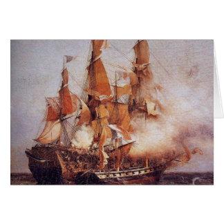 Batalla naval entre el Confiance y el HMS Kent Tarjeta De Felicitación