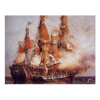 Batalla naval entre el Confiance y el HMS Kent Postal