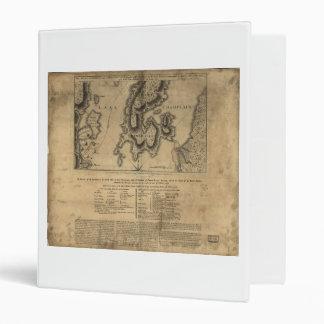 """Batalla Nueva York mapa del 11 de octubre de 1776 Carpeta 1"""""""