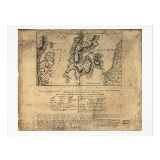Batalla Nueva York mapa del 11 de octubre de 1776 Membrete Personalizado