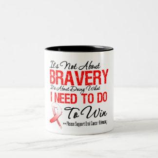 Batalla oral del cáncer taza de café