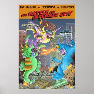 Batalla para la ciudad del Internet Poster