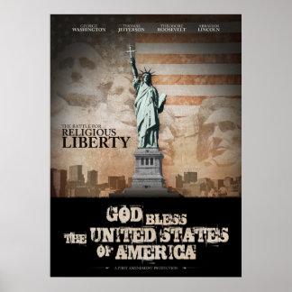 Batalla para la libertad religiosa póster
