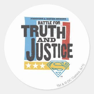 Batalla para la verdad y la justicia pegatina redonda