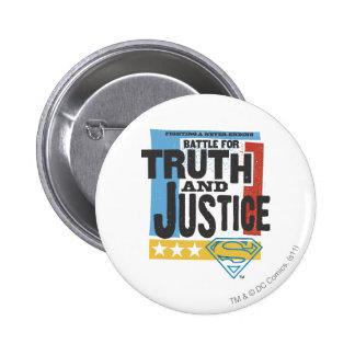 Batalla para la verdad y la justicia pin redondo de 2 pulgadas