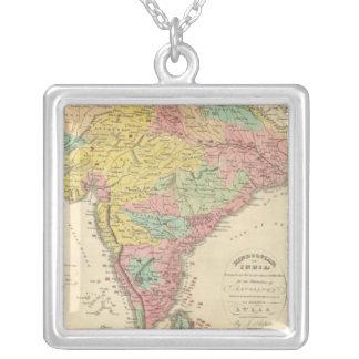 Batallas de la India y mapa de Seiges Chonology Colgante Cuadrado