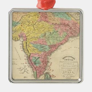 Batallas de la India y mapa de Seiges Chonology Adornos