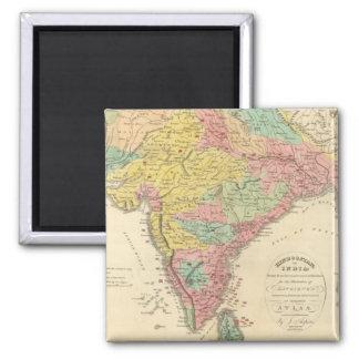 Batallas de la India y mapa de Seiges Chonology Imanes Para Frigoríficos