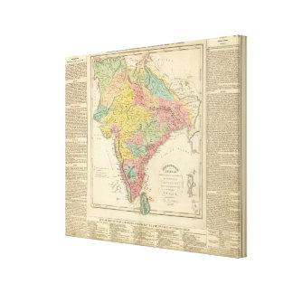 Batallas de la India y mapa de Seiges Chonology Impresiones En Lienzo Estiradas