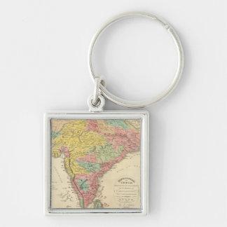 Batallas de la India y mapa de Seiges Chonology Llavero Personalizado
