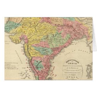 Batallas de la India y mapa de Seiges Chonology Felicitación