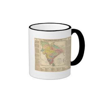 Batallas de la India y mapa de Seiges Chonology Taza De Dos Colores