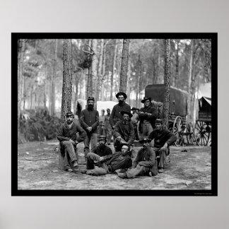 Batallón 1864 del ingeniero de los E E U U Poster