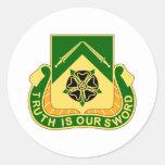 Batallón de 19 policía militar etiqueta redonda