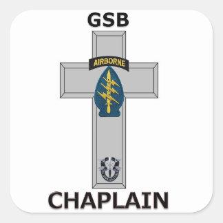 Batallón de la ayuda del grupo - capellán SF Pegatina Cuadrada