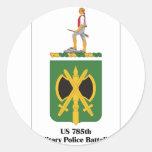 Batallón de la policía militar de los E.E.U.U. Pegatina Redonda