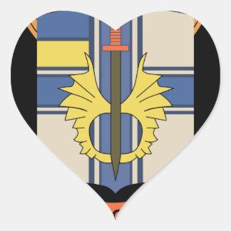 Batallón separado de la inteligencia del infante calcomanías de corazones