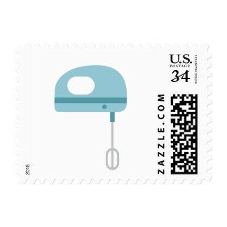 Bátalo batidor azul de la cocina del   timbres postales