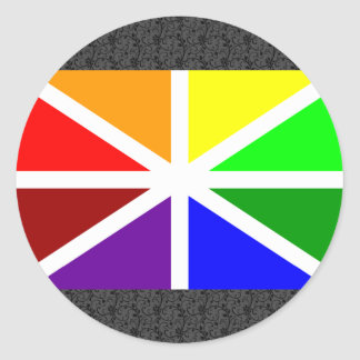 Batasuna Flag Classic Round Sticker