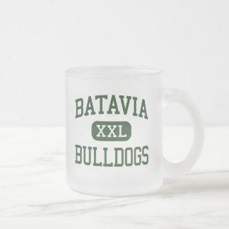 Batavia - Bulldogs - High School - Batavia Ohio Frosted Glass Coffee Mug