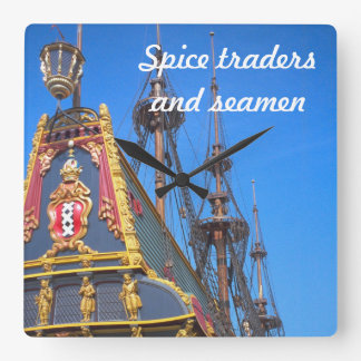 Batavia - Dutch East Indies ship Square Wall Clock