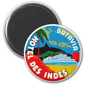 Batavia Hotel Des Indies 2 Inch Round Magnet