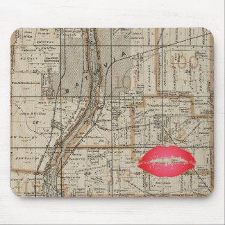 Batavia Illinois Plat Map 1870 Fox River Valley Mouse Pad