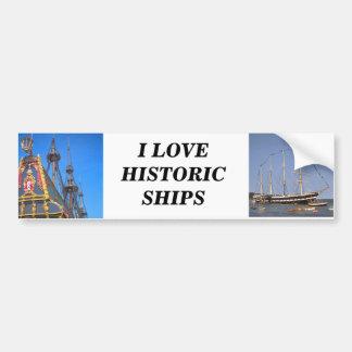 Batavia - nave del este holandesa de los indies etiqueta de parachoque