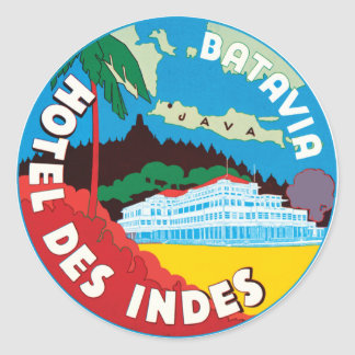 BataviaHotelJava Classic Round Sticker