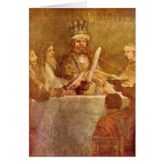 Batavian conspiracy, detail by Rembrandt Card
