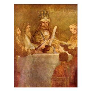 Batavian conspiracy, detail by Rembrandt Postcard