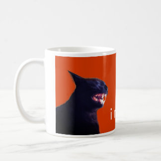 Batcat: I might bite (Mug) Classic White Coffee Mug