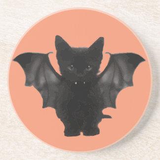 Batcat kitty drink coaster
