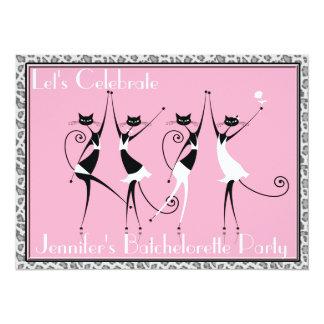 batchelorette cat kitten party invitations