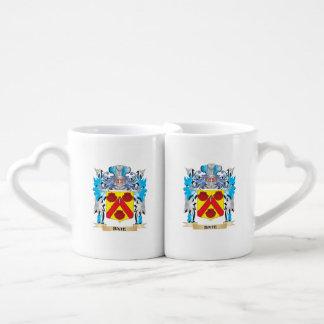 Bate Coat of Arms Couple Mugs