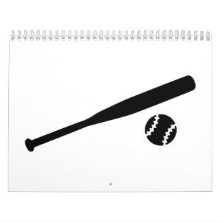 Bate de béisbol calendarios