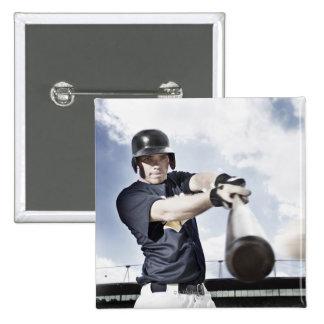 Bate de béisbol de balanceo 2 del jugador de pin cuadrado