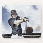Bate de béisbol de balanceo 2 del jugador de tapete de ratones
