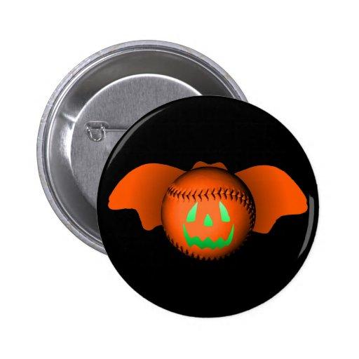 Bate de béisbol de Halloween Pin Redondo De 2 Pulgadas