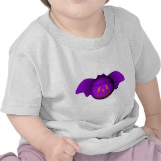 Bate de béisbol de la púrpura de Halloween Camisetas