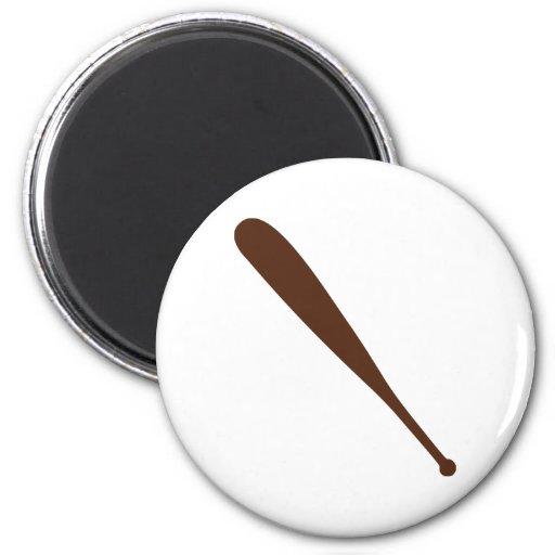 Bate de béisbol imán redondo 5 cm