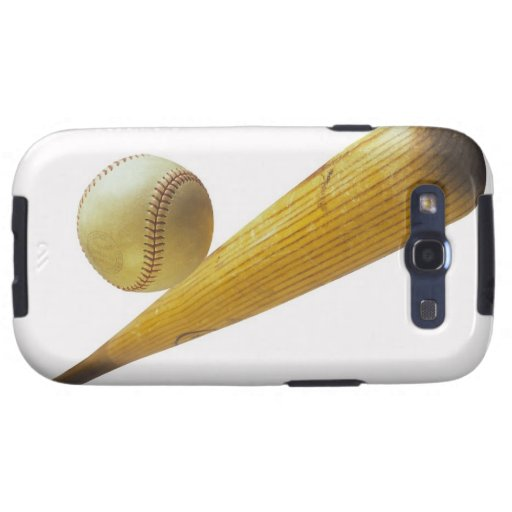Bate de béisbol y bola galaxy SIII cobertura