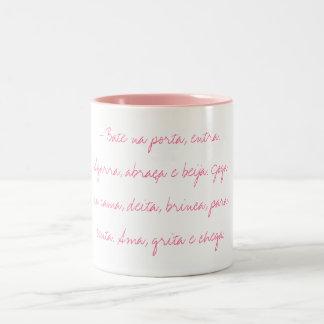 - Bate na porta e entra. Two-Tone Coffee Mug