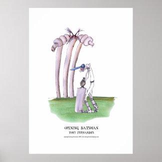 bateador de abertura, poster tony de los fernandes