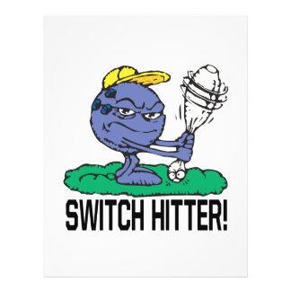 Bateador de interruptor tarjeta publicitaria