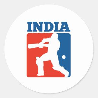 bateador la India del jugador del grillo retra Pegatina