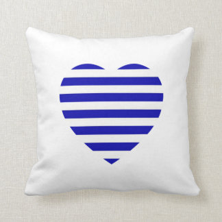 Bateau Nautical Heart Cushion