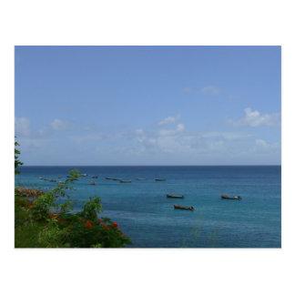 Bateaux de Pêcheurs - Martinique, FWI Postcard