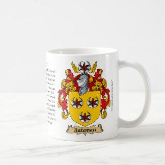 Bateman, el origen, el significado y el escudo taza de café