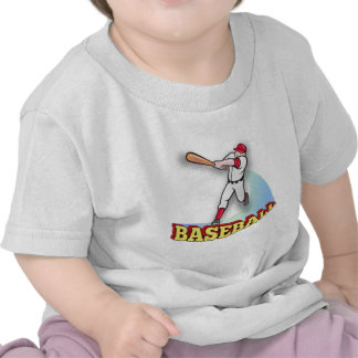 bateo del jugador de béisbol camisetas